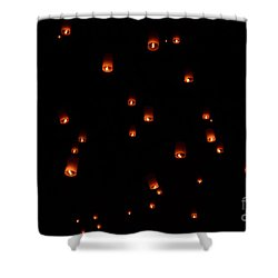 Rise Festival Lanterns 2014 Horizontal Sky Only Number One Shower Curtain