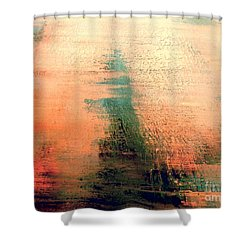 Shower Curtain featuring the painting Rise by Jacqueline McReynolds