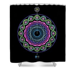 Rising Above Challenges Shower Curtain by Keiko Katsuta