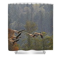 Shower Curtain featuring the digital art Rising by I'ina Van Lawick