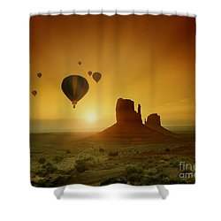 Rising To The Sun Shower Curtain