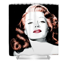 Rita Hayworth Large Size Portrait Shower Curtain
