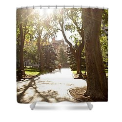 Shower Curtain featuring the photograph Rittenhouse In The Sun by Christopher Woods