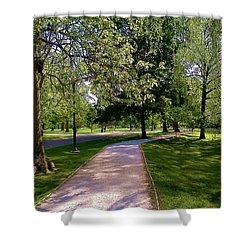 Ritter Park Paths Shower Curtain by Christy Saunders Church