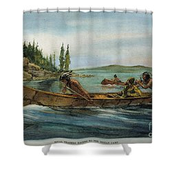 Rival Fur Traders  Shower Curtain by Granger