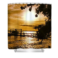 River Acres Jaynes Sunset Shower Curtain