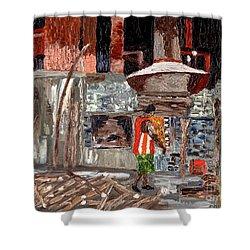 River Antoine Rum Distillery Shower Curtain by Laura Forde