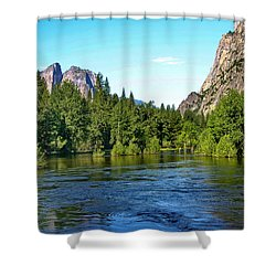 Yosemite National Park Shower Curtain by Menachem Ganon