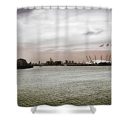 River Bend Shower Curtain by Mark Rogan