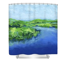 River Bend Shower Curtain by Stephen Anderson