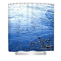 Shower Curtain featuring the photograph River Blue by Robyn King
