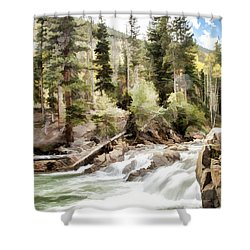River Boulders Shower Curtain