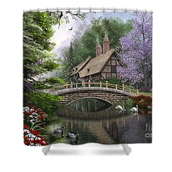River Cottage Shower Curtain by Dominic Davison