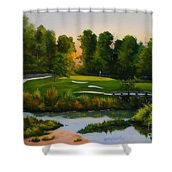 River Course #16 Shower Curtain