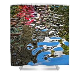 River Ducks Shower Curtain by Pamela Clements