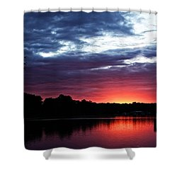 Shower Curtain featuring the photograph River Glow by Dave Files