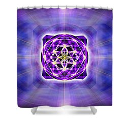 Shower Curtain featuring the drawing River Of Ascended Light by Derek Gedney