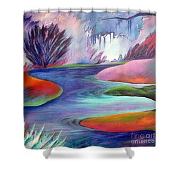Blue Bayou Shower Curtain by Elizabeth Fontaine-Barr