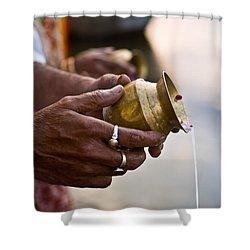 River Offering Shower Curtain by Nila Newsom