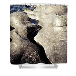 River Rock Sculptured Shower Curtain