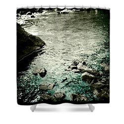 River Rocked Shower Curtain by Susan Maxwell Schmidt