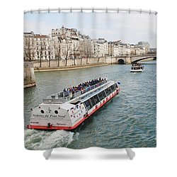 River Seine Excursion Boats Shower Curtain
