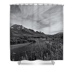 River Serenity Shower Curtain by Priska Wettstein