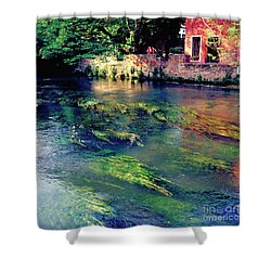 River Sile In Treviso Italy Shower Curtain by Heiko Koehrer-Wagner