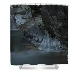 River Stalactites Shower Curtain by Rod Wiens