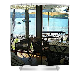 Shower Curtain featuring the photograph River View by Leanne Seymour