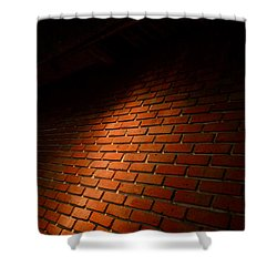 River Walk Brick Wall Shower Curtain