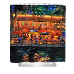 Da190 River Walk By Daniel Adams Shower Curtain