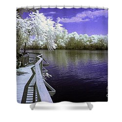 River Walk Shower Curtain by Paul W Faust -  Impressions of Light