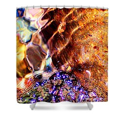 River Water Abstract Shower Curtain