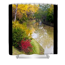 River With Autumn Colors Shower Curtain