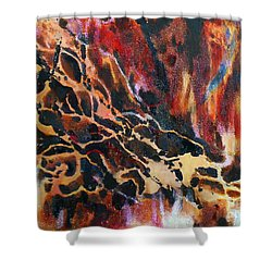 Riverbed Shower Curtain by Amy Williams