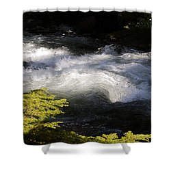 River's Ebb Shower Curtain