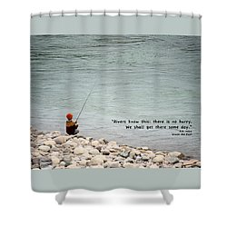 Rivers Know This Shower Curtain by Mary Lee Dereske