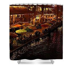 Riverwalk Night Shower Curtain