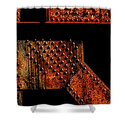 Rivets Number Two Shower Curtain by Bob Orsillo