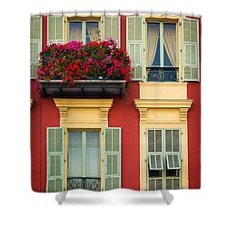Riviera Windows Shower Curtain by Inge Johnsson