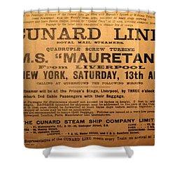 Rms Mauretania 1912 Shower Curtain