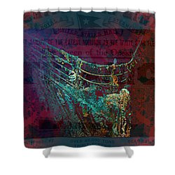 Rms Titanic Sinks  Shower Curtain by Elizabeth McTaggart