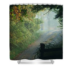 Road Goes On Shower Curtain
