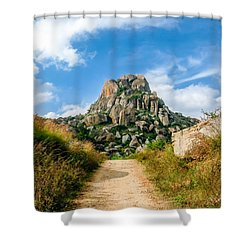 Road Into The Hills Shower Curtain