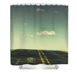 Road Shower Curtain by Margie Hurwich