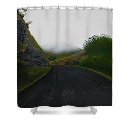 Road Near Gresford Nsw Shower Curtain by Tim Mullaney
