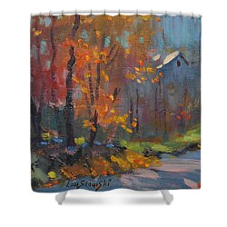 Shower Curtain featuring the painting Road South by Len Stomski