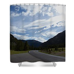 Road Through The Mountains Shower Curtain