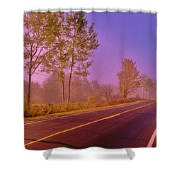 Shower Curtain featuring the photograph Road To... by Daniel Thompson